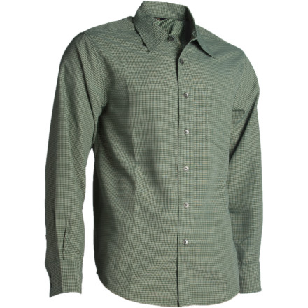 photo: Royal Robbins Cedar Creek Plaid Long Sleeve hiking shirt