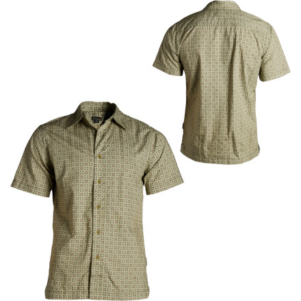 photo: Royal Robbins Mountain Mosaic Print Short Sleeve hiking shirt