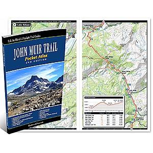photo: Blackwoods Press John Muir Trail Pocket Atlas us pacific states map