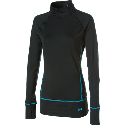 photo: Under Armour EVO ColdGear Side Zip Top base layer top
