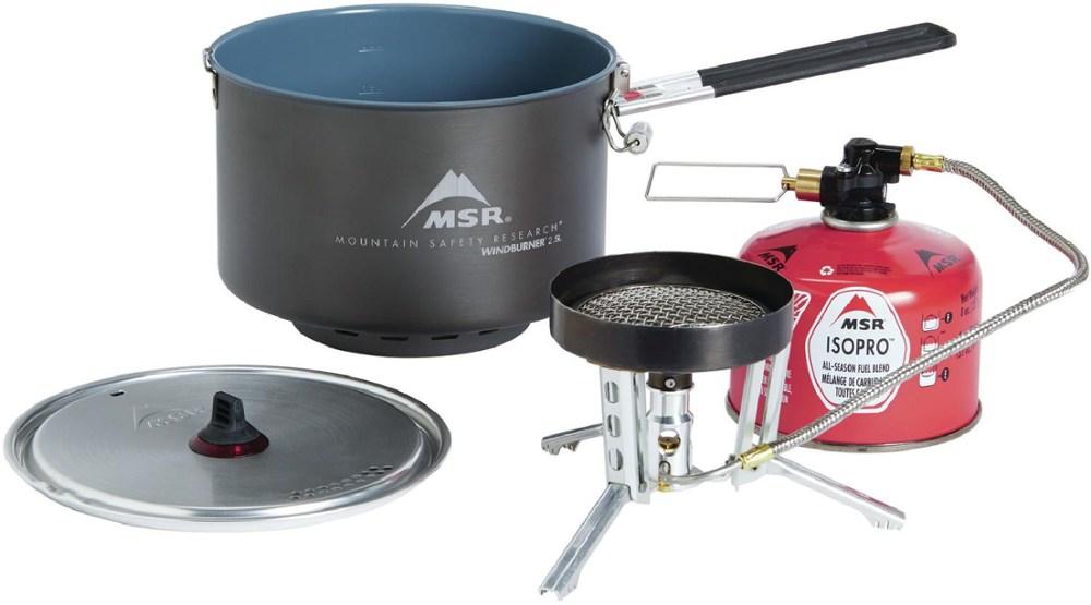 photo: MSR WindBurner Group Stove System compressed fuel canister stove