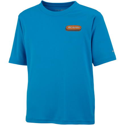 photo: Columbia Adventure Land Graphic short sleeve performance top