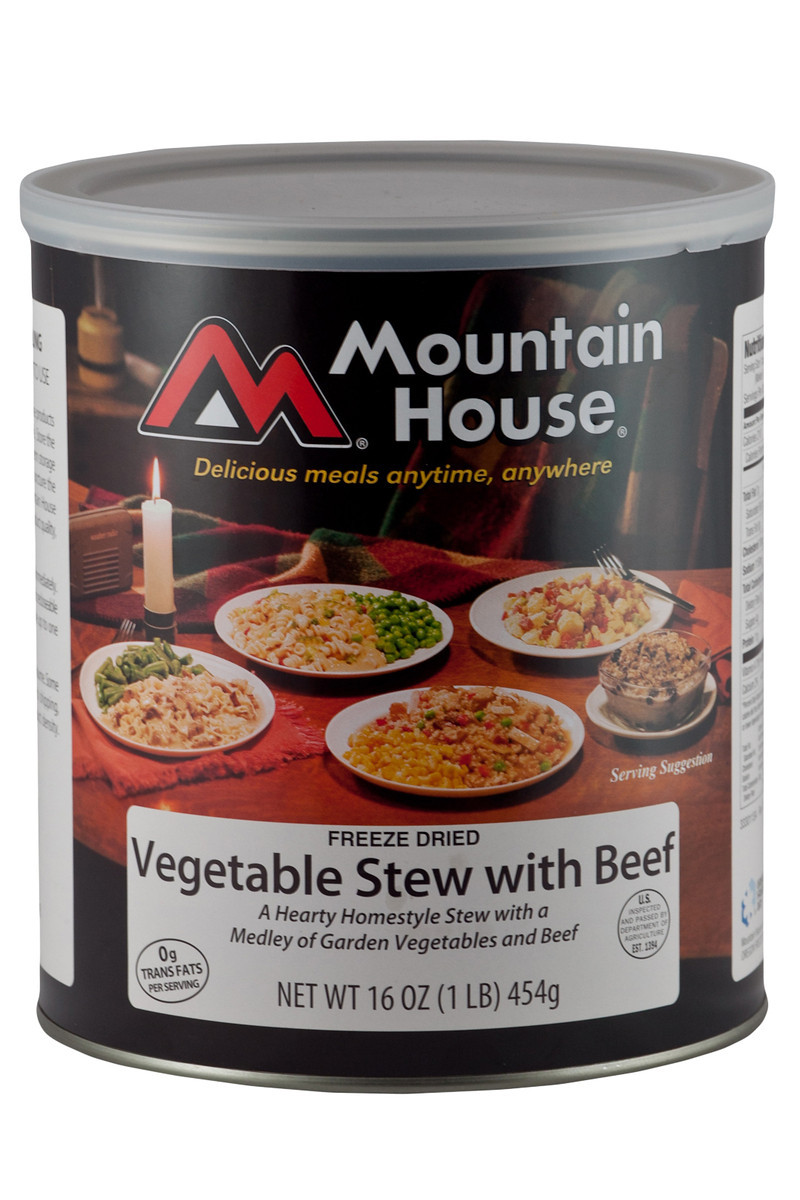 photo: Mountain House Vegetable Stew with Beef meat entrée