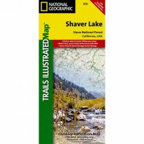photo: National Geographic Shaver Lake Map us pacific states paper map