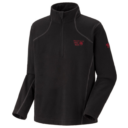 photo: Mountain Hardwear Boys' MicroChill Zip T fleece top