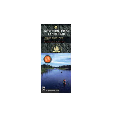 The Mountaineers Books Northern Forest Canoe Trail Map - Allagash Region in North Maine