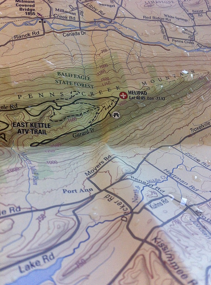 photo: Purple Lizard Maps Bald Eagle State Forest Map us northeast paper map