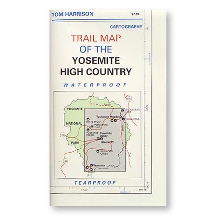 Tom Harrison Maps Yosemite High Country - Folded Map