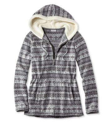 L.L.Bean Fair Isle Fleece-Knit Jacket