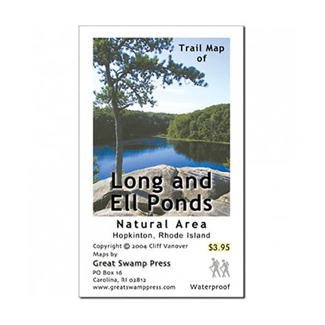Adirondack Mountain Club Long and Ell Ponds Trail Map, RI