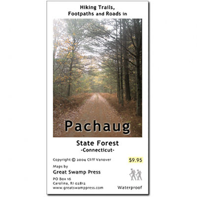 photo: Adirondack Mountain Club Pachaug State Forest Trail Map, CT us northeast paper map