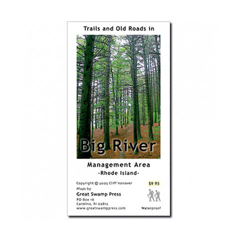 Adirondack Mountain Club Big River Area Trail Map, RI