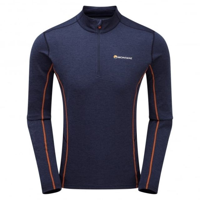 photo: Montane Men's Dart Zip-Neck long sleeve performance top