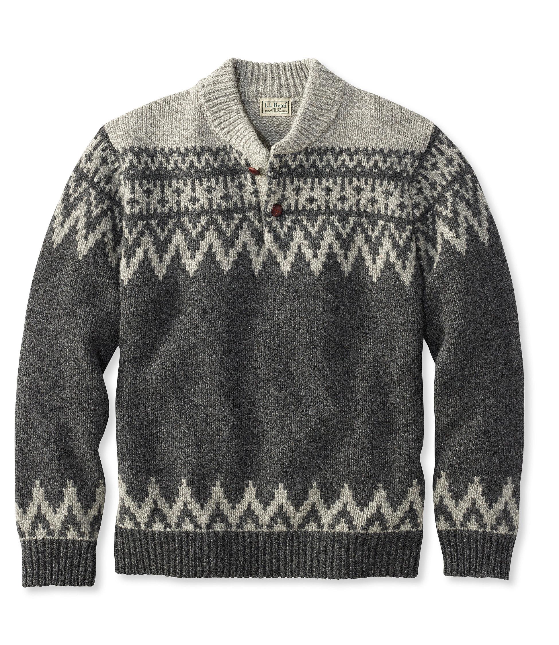 L.L.Bean Classic Ragg Wool Henley Sweater