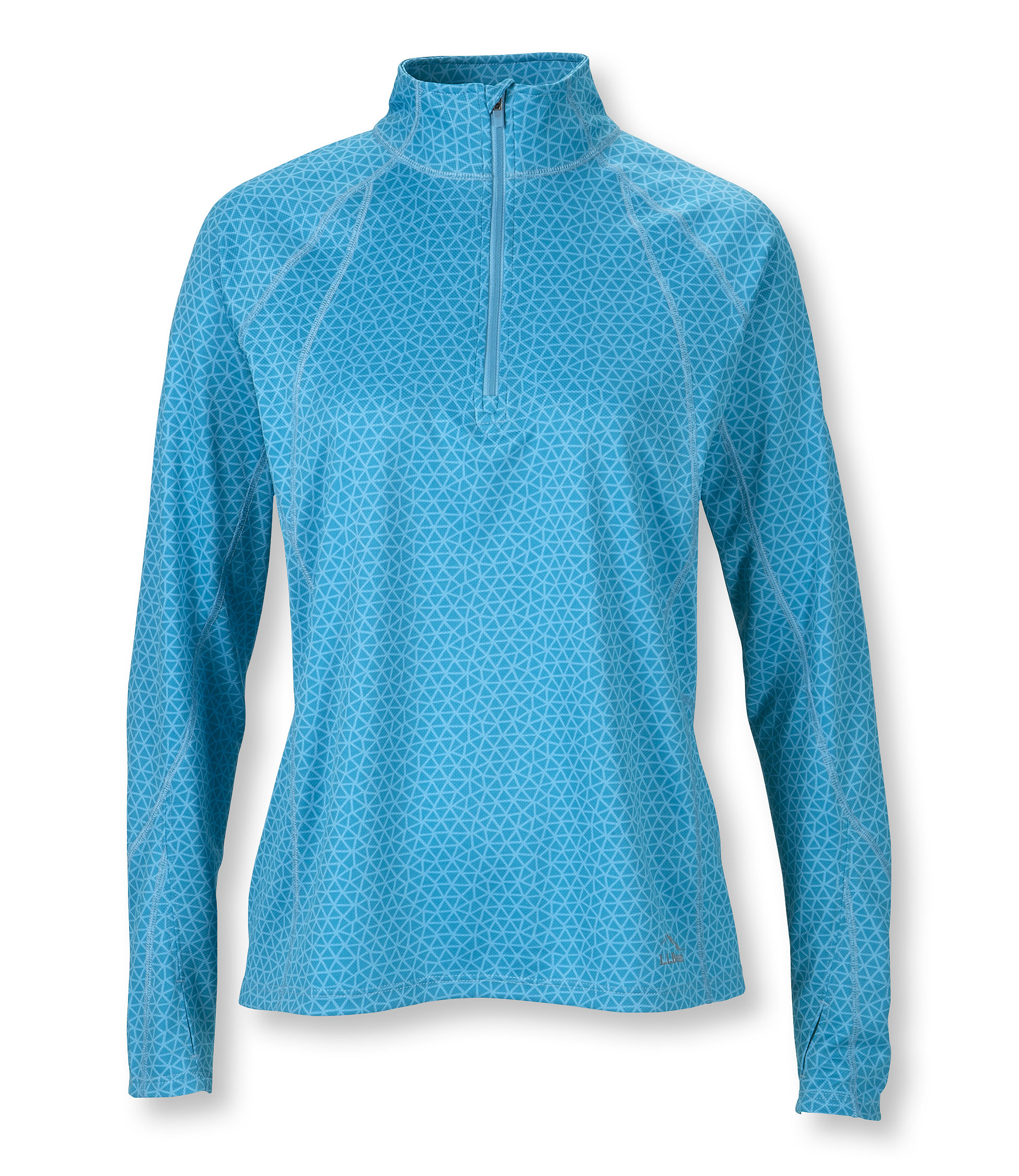 L.L.Bean Beansport Quarter-Zip Pullover, Print