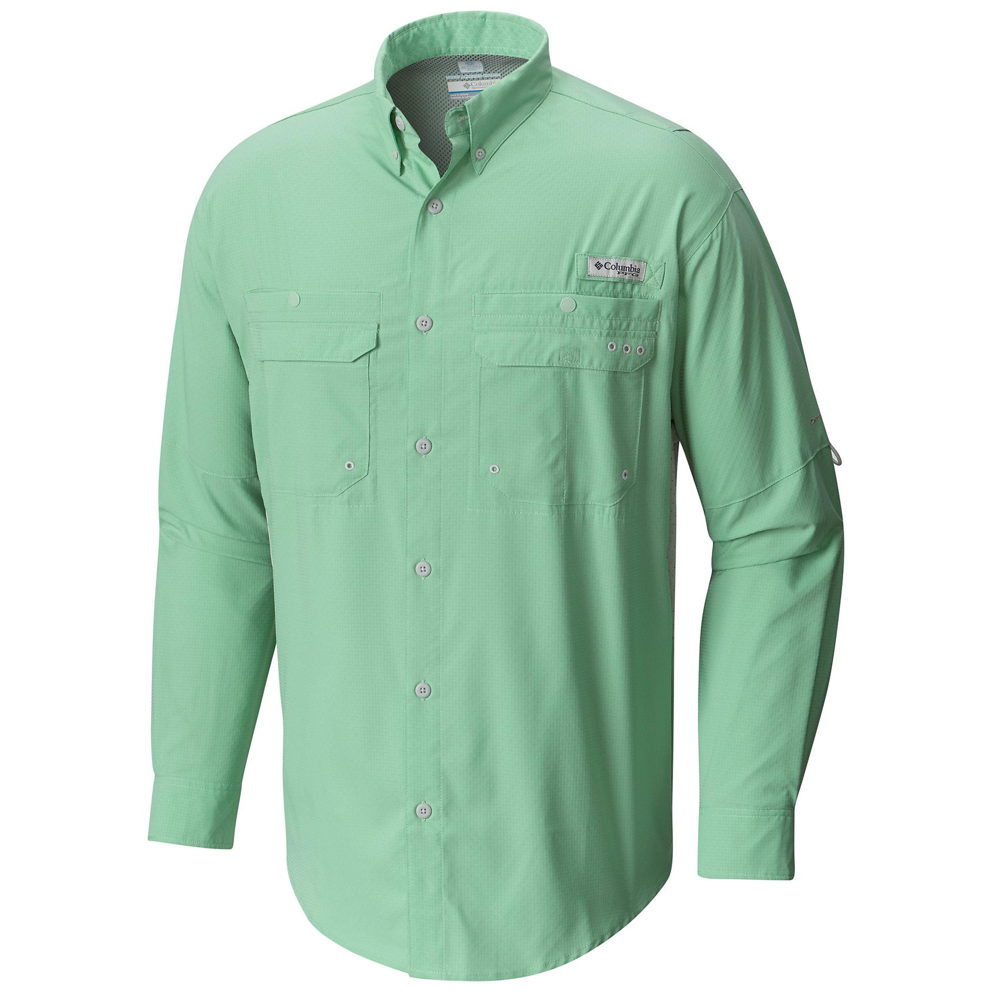 photo: Columbia PFG Cast Away ZERO Woven Long Sleeve hiking shirt