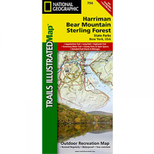 photo: National Geographic Harriman, Bear Mountain and Sterling Forest State Parks Trail Map us northeast paper map