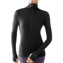 photo: Smartwool Women's Midweight Funnel Zip base layer top