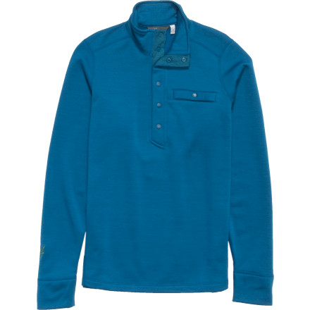 photo: Ibex Nomad 1/2 Snap Top base layer top