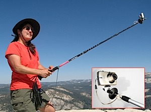 photo of a StickPic trekking pole accessory