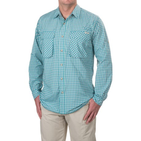 photo: ExOfficio Air Strip Lite Micro Plaid Long-Sleeve Shirt hiking shirt