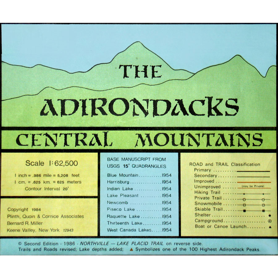 Adirondack Maps Adirondacks Central Mountains
