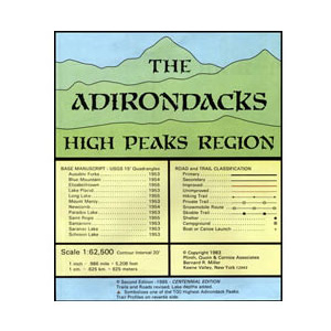 photo: Adirondack Maps Adirondacks High Peaks Region us northeast paper map