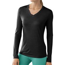 photo: Smartwool Microweight V-Neck Long Sleeve base layer top