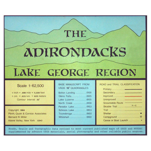 photo: Adirondack Maps Adirondacks Lake George Region us northeast paper map