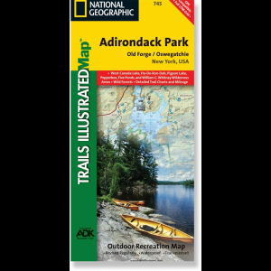 National Geographic Old Forge/Oswegatch Map - Adirondack National Park