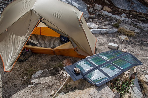 Tent site with electric hookup to the tent - Trailspace