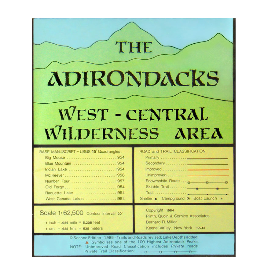 Adirondack Maps Adirondacks West Central Wilderness