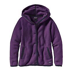 Patagonia Shearling Fleece Hooded Cardigan