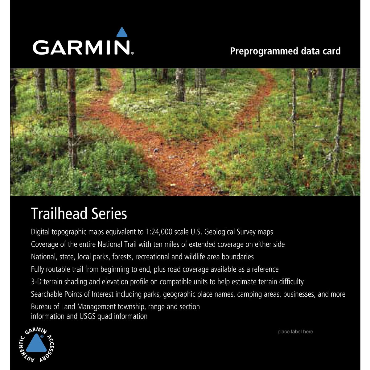 Garmin Trailhead Series Appalachian Trail SD Card