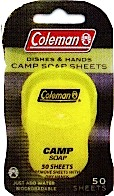 Coleman Camp Soap Sheets