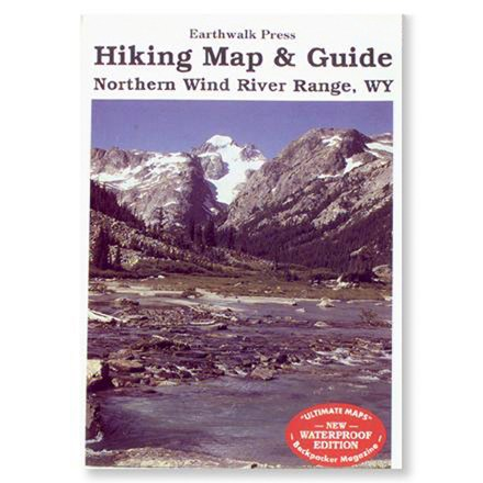 photo: Earthwalk Press Northern Wind River Range Hiking Map & Guide us mountain states paper map