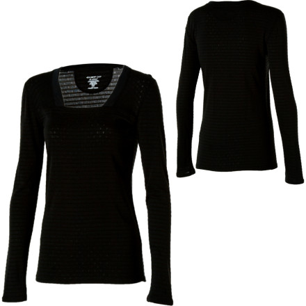 ExOfficio Pointelle Square Neck Long-Sleeve Shirt