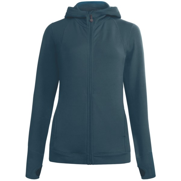 photo: Terramar Hot Totties Grid Fleece Full Zip Hoodie Top fleece top