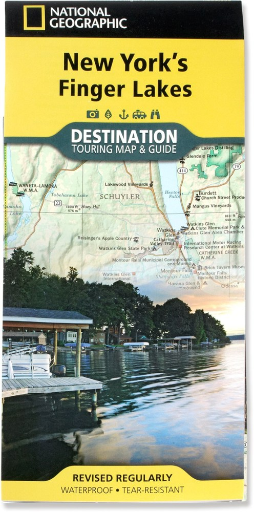 National Geographic New York's Finger Lakes Map