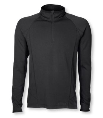 L.L.Bean Power Dry Stretch Base Layer, Midweight Quarter-Zip