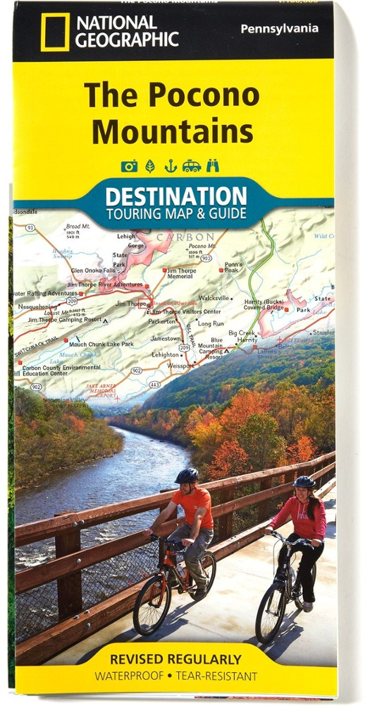 National Geographic The Pocono Mountains Map
