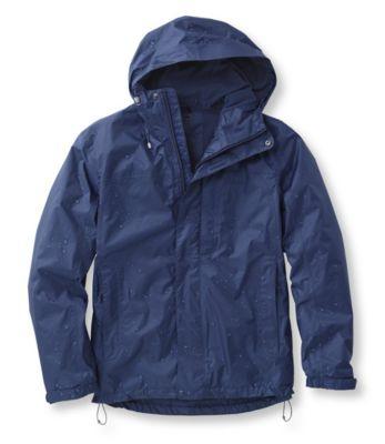 L.L.Bean Trail Model Rain Jacket, Fleece-Lined