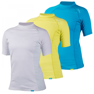 photo: NRS Women's H2Core Rashguard Short-Sleeve short sleeve paddling shirt