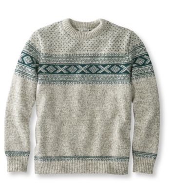 L.L.Bean Norwegian Sweater, Crew Pattern