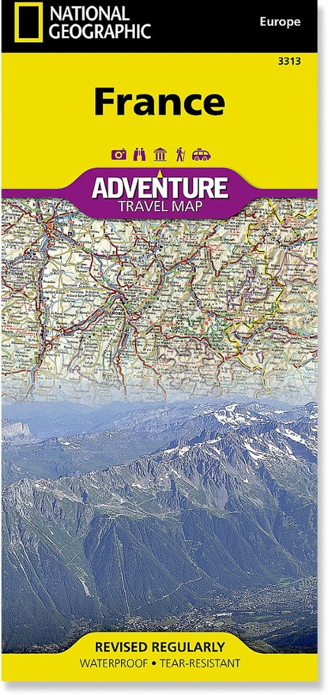 National Geographic France Adventure Travel Map