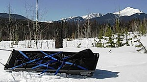 photo: Ed's Wilderness Systems Snow Clipper sled/pulk