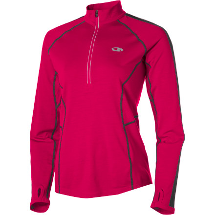 photo: Icebreaker Women's LS Quest Zip long sleeve performance top