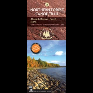 The Mountaineers Books Northern Forest Canoe Trail Map #12 - Allagash Region in South Maine