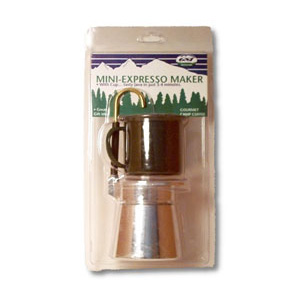 photo: GSI Outdoors 4 Cup Aluminum Mini Expresso Set coffee press/filter