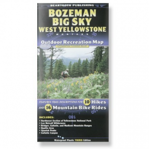 Beartooth Mountain Press Bozeman Big Sky / West Yellowstone Recreation Map